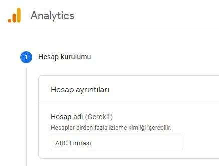 Google Analytics 4 Hesap Kurulumu