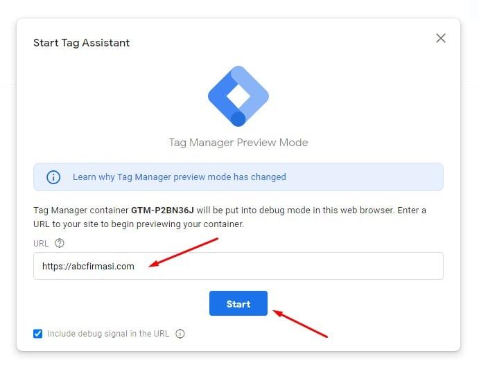 Google Tag Manager Önizleme'yi Çalıştır